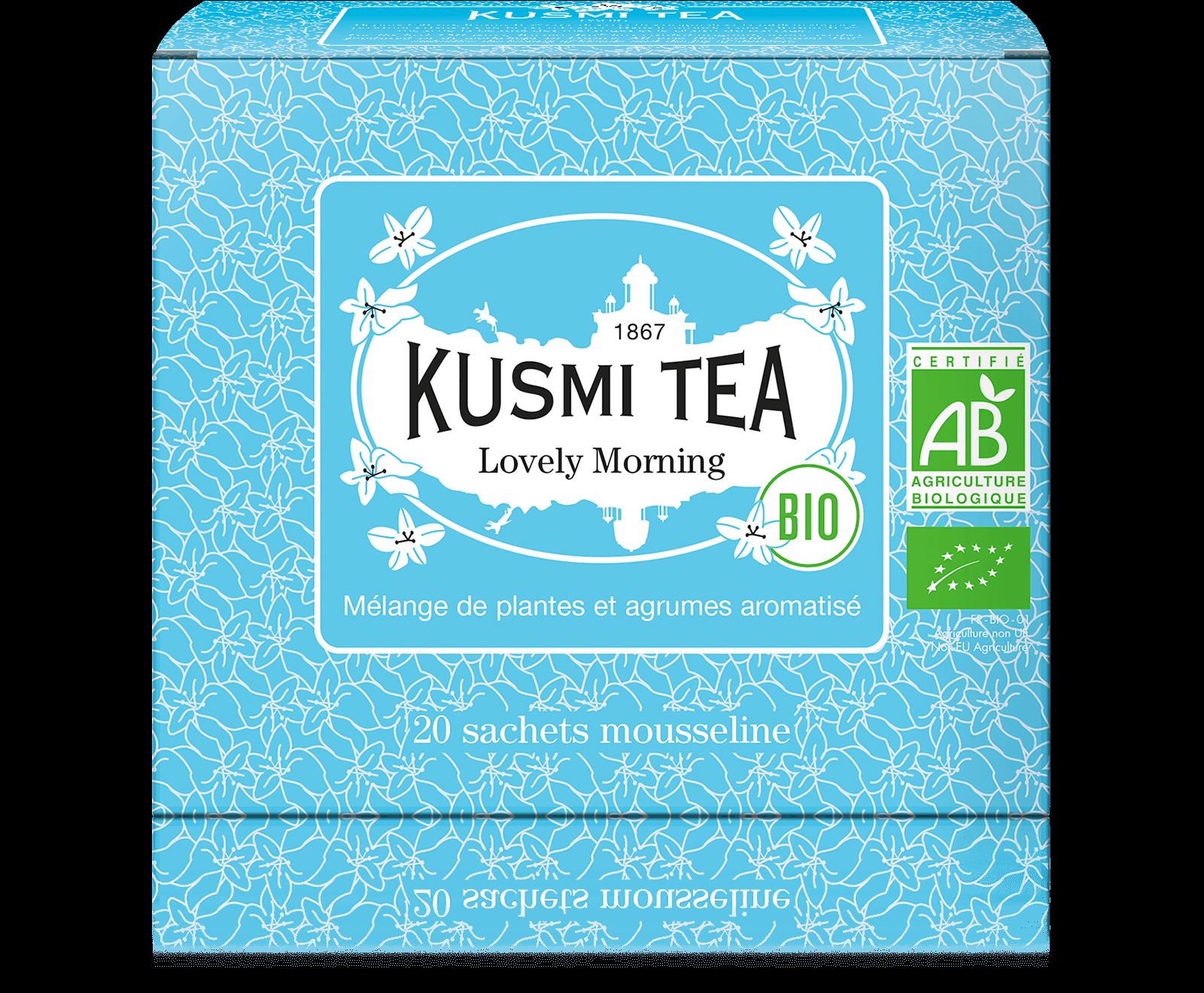 Thé vert, maté - Lovely Morning bio - Sachets de thé - Kusmi Tea