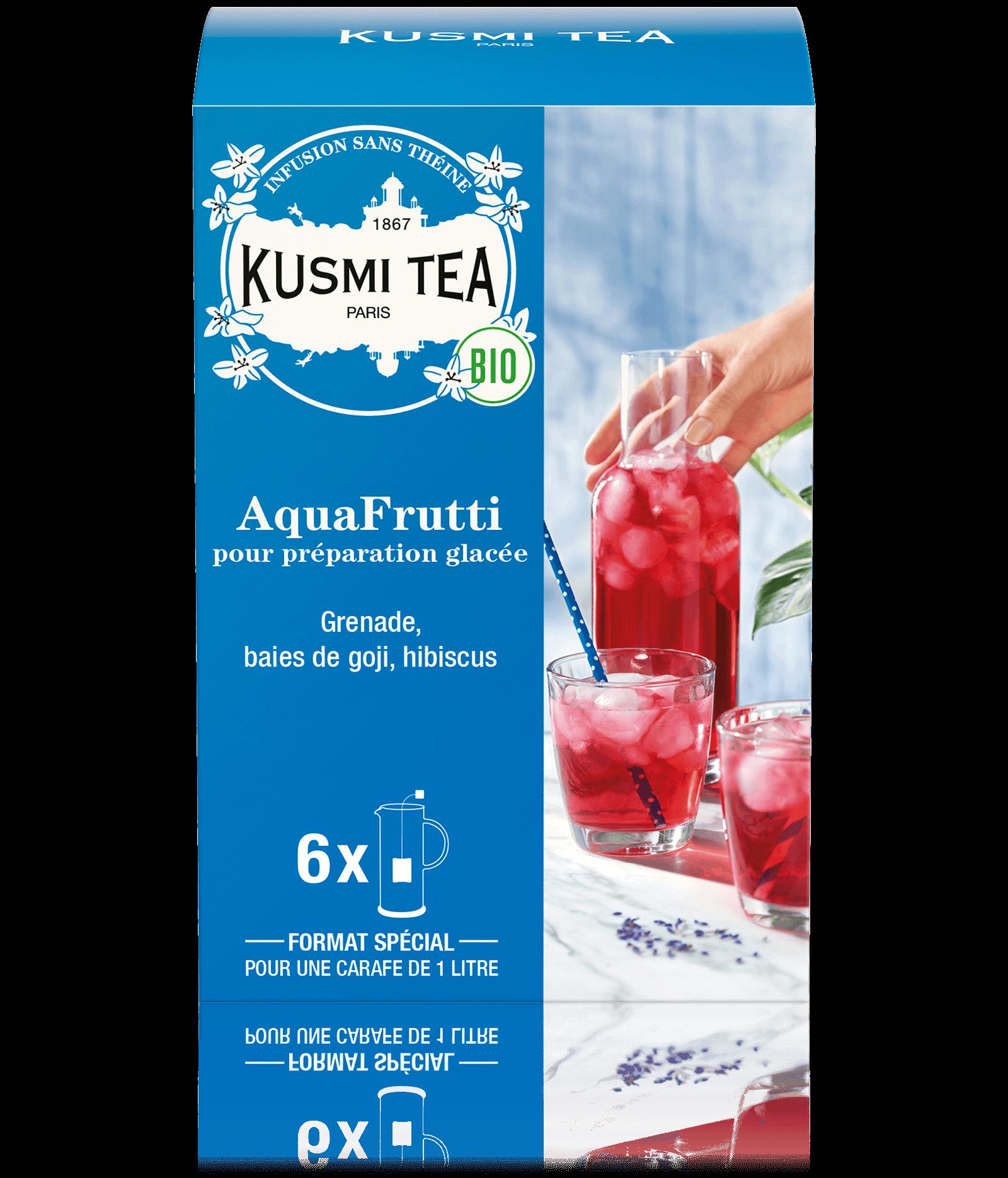 AquaFrutti Infusion glacée bio à l'hibiscus et grenade Kusmi Tea