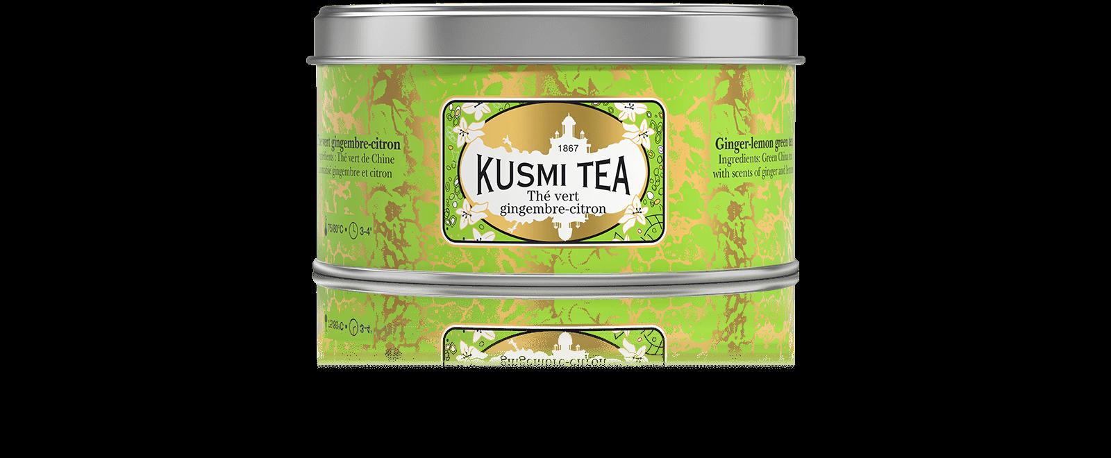 Thé vert saveur gingembre-citron - Thé vert, gingembre, citron - Kusmi Tea
