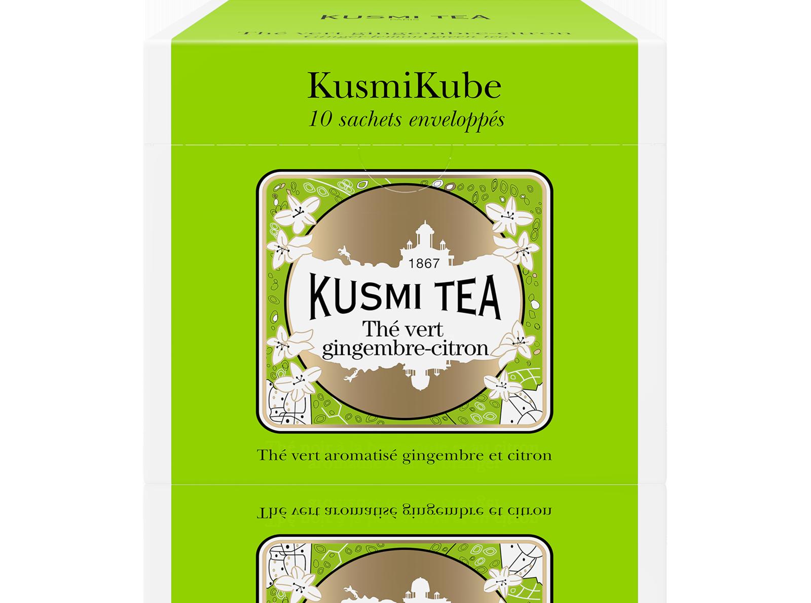 Thé vert Sachet - Thé vert saveur gingembre-citron - Kusmi Tea