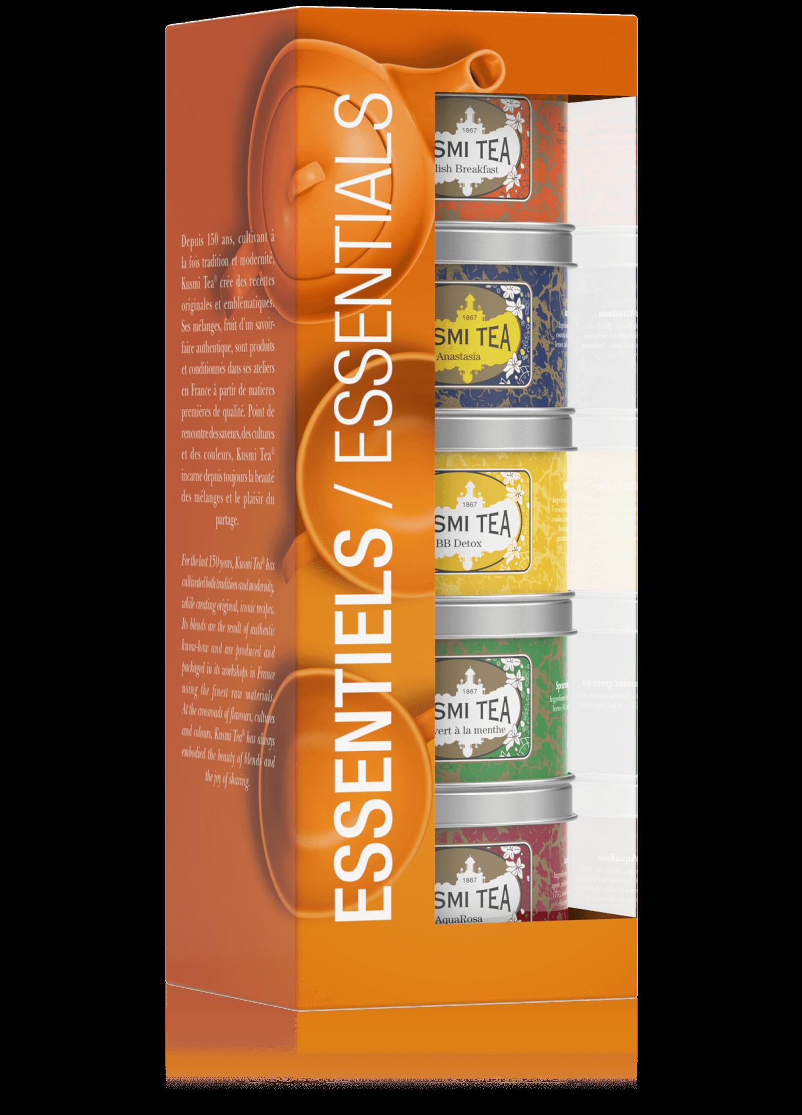 Coffret Les Essentiels - Thé noir et thé vert en vrac - Kusmi Tea