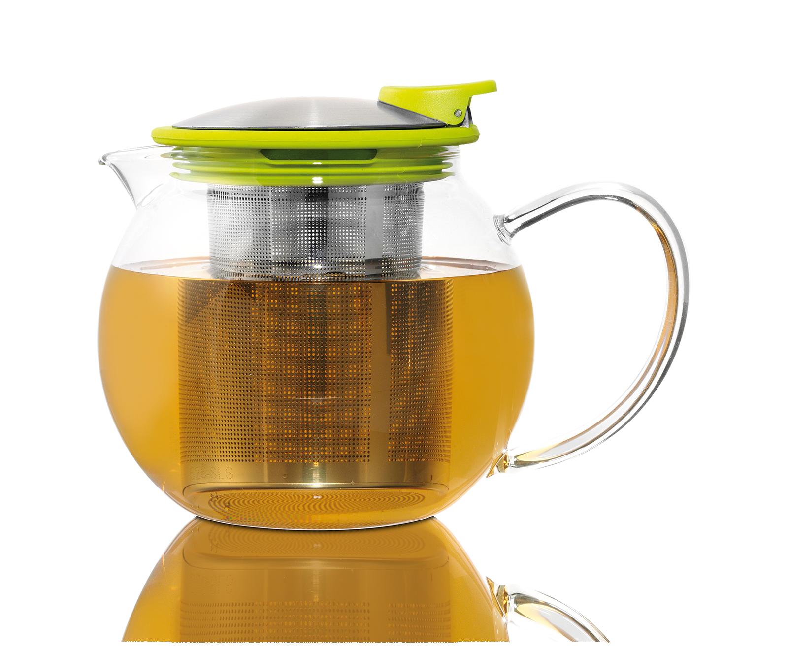 Infusion - Théière Bola en verre avec filtre et couvercle 0,75L - Vrac - Kusmi Tea