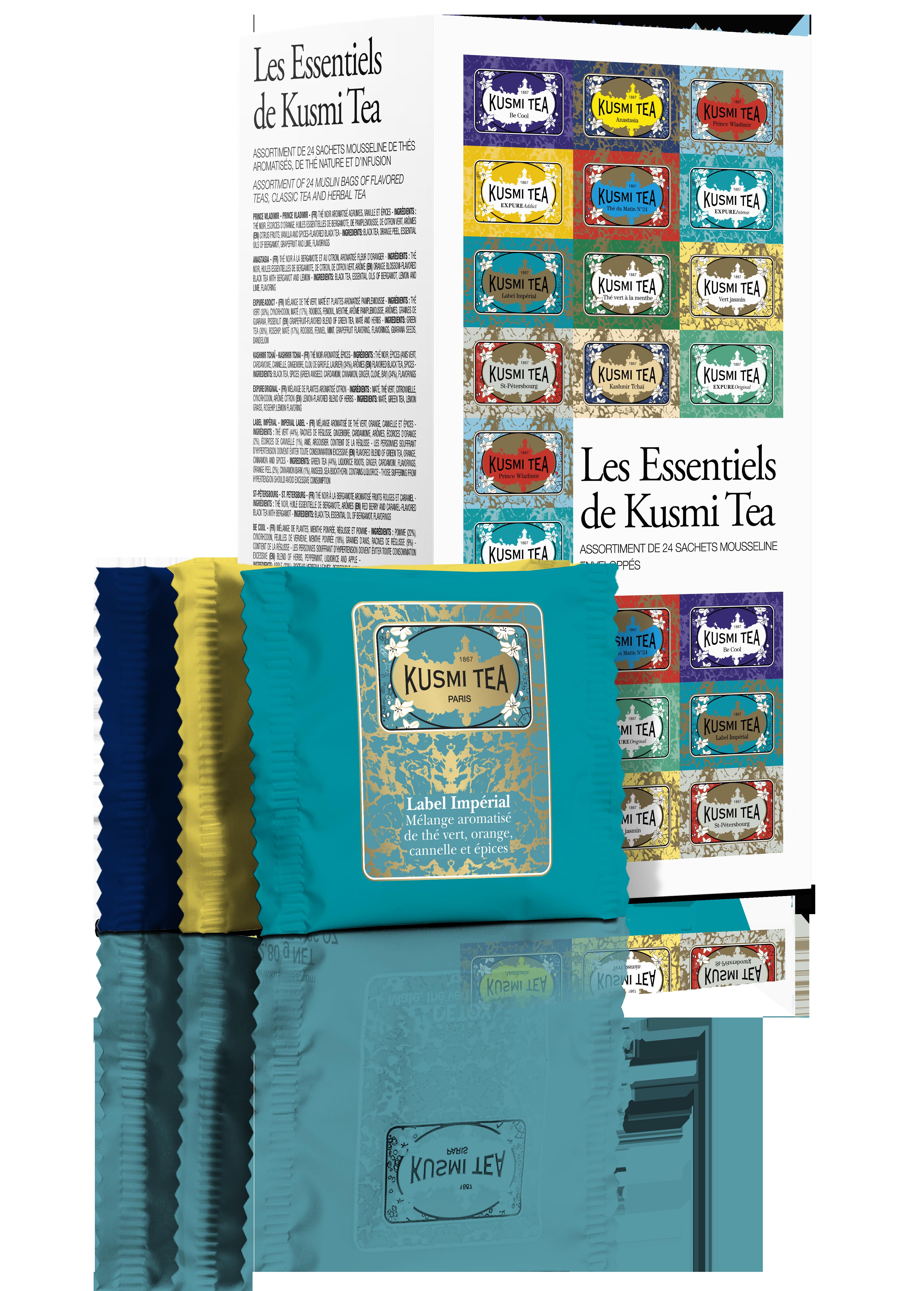Coffret les Essentiels de 24 sachets de thé