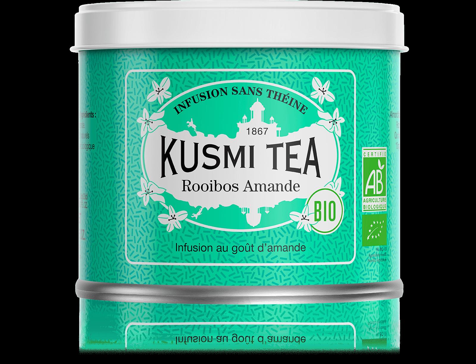 Rooibos Amande Infusion bio - Infusion au goût d'amande - Boite à thé en vrac - Kusmi Tea