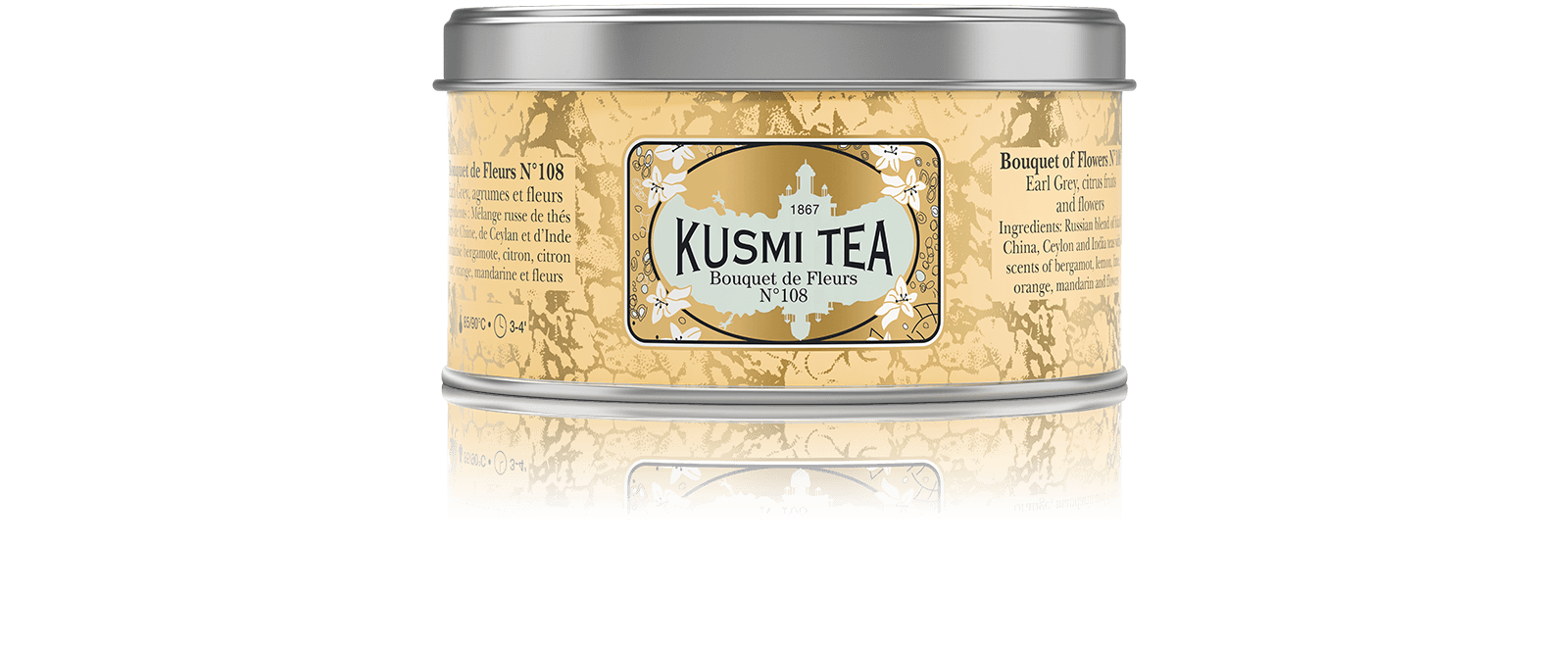 Bouquet de Fleurs N°108 - Thé noir aromatisé agrumes et fleur - Kusmi Tea