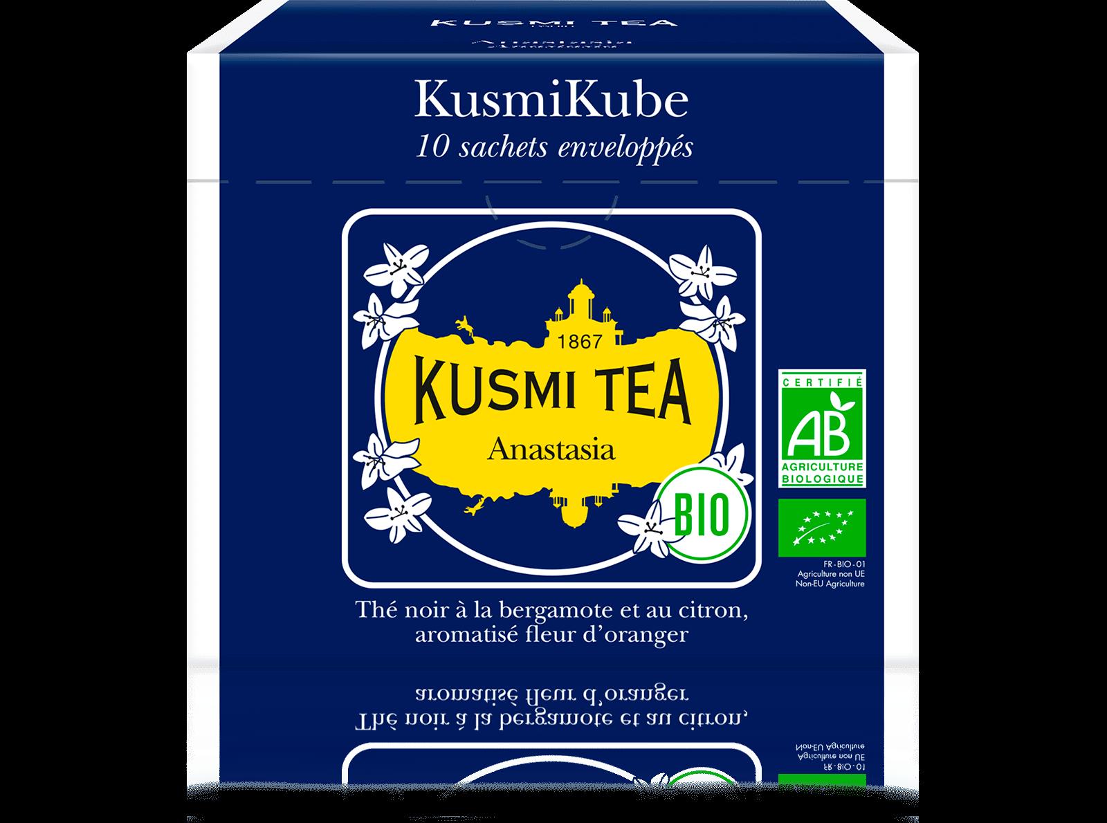 Anastasia bio - Thé noir earl grey, citron - Sachets de thé - Kusmi Tea