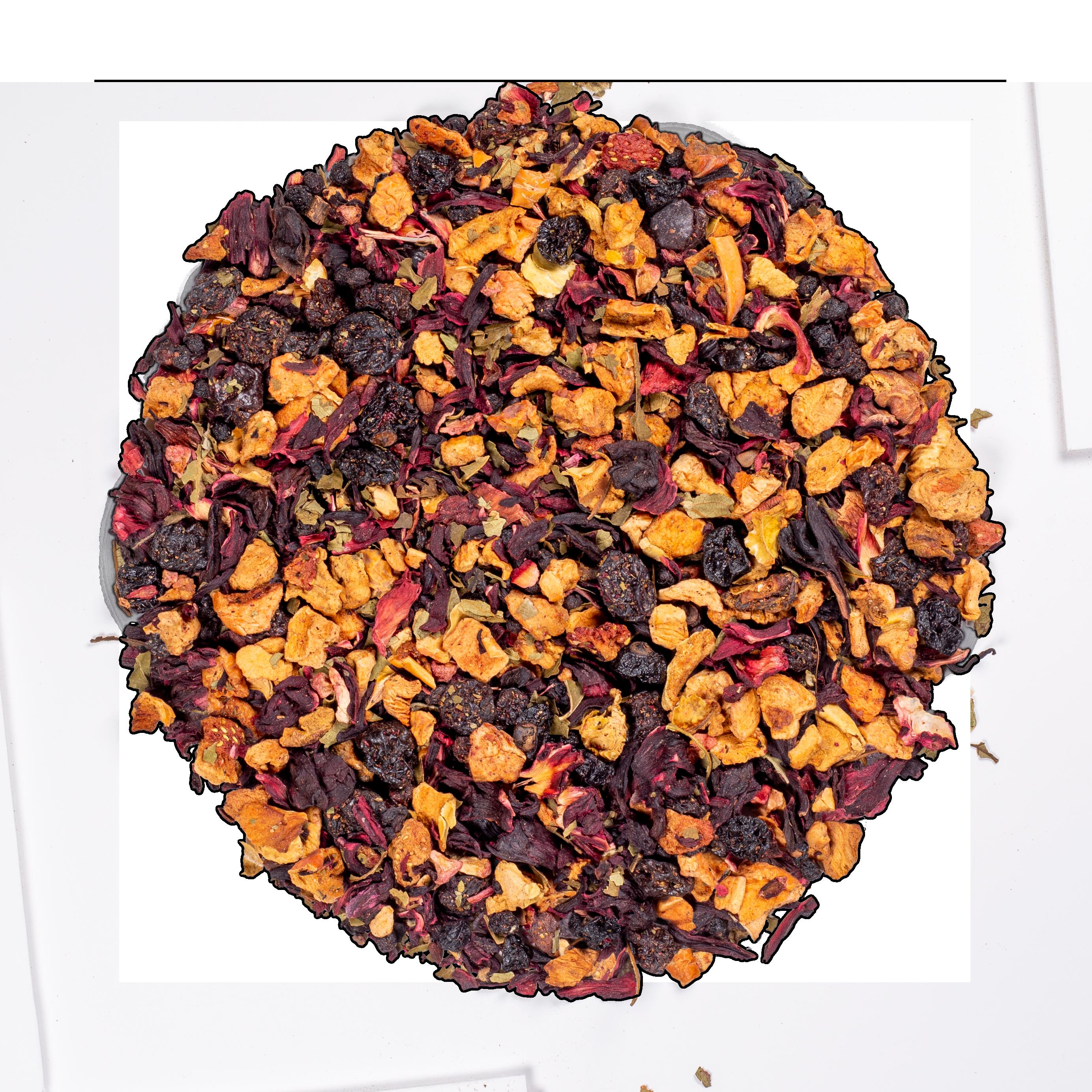 Infusion d'hibiscus bio - AquaRosa (Infusion de fruits bio) - Vrac - Kusmi Tea