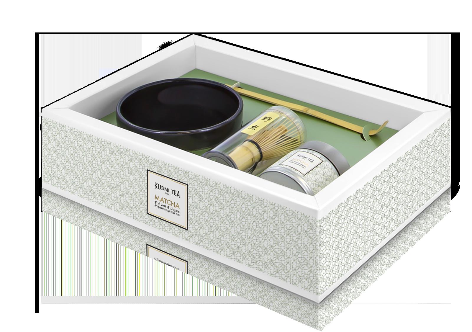 Coffret thé vert Matcha - Bol + fouet bambou - KUSMI TEA