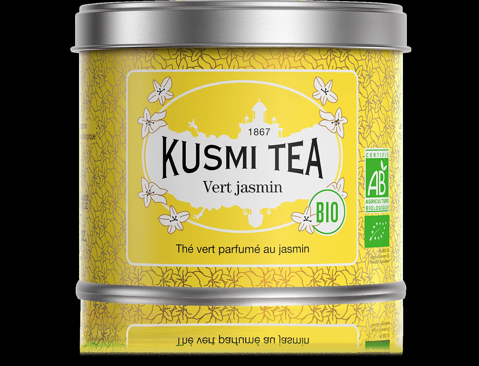 Vert Jasmin bio - Thé vert au jasmin - Boîte de thé en vrac - Kusmi Tea