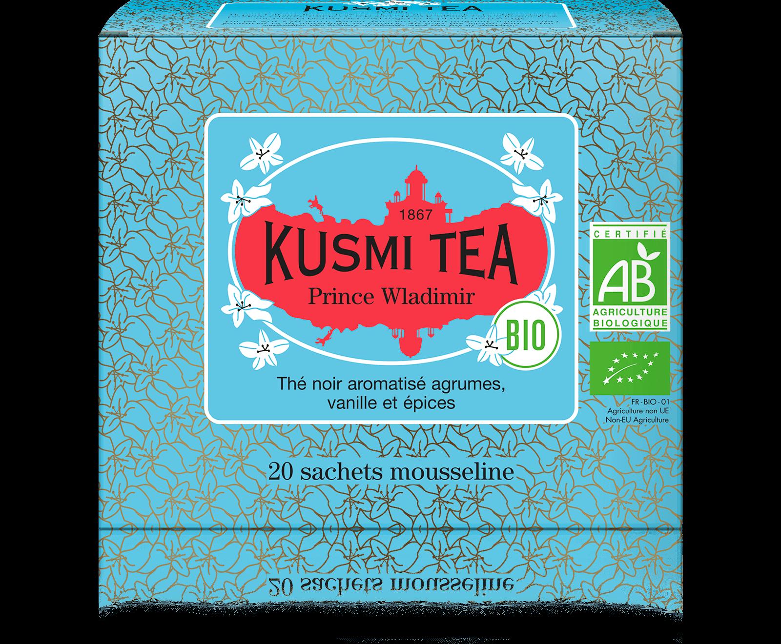 Prince Vladimir bio - Thé noir earl grey, orange - Sachets de thé - Kusmi Tea