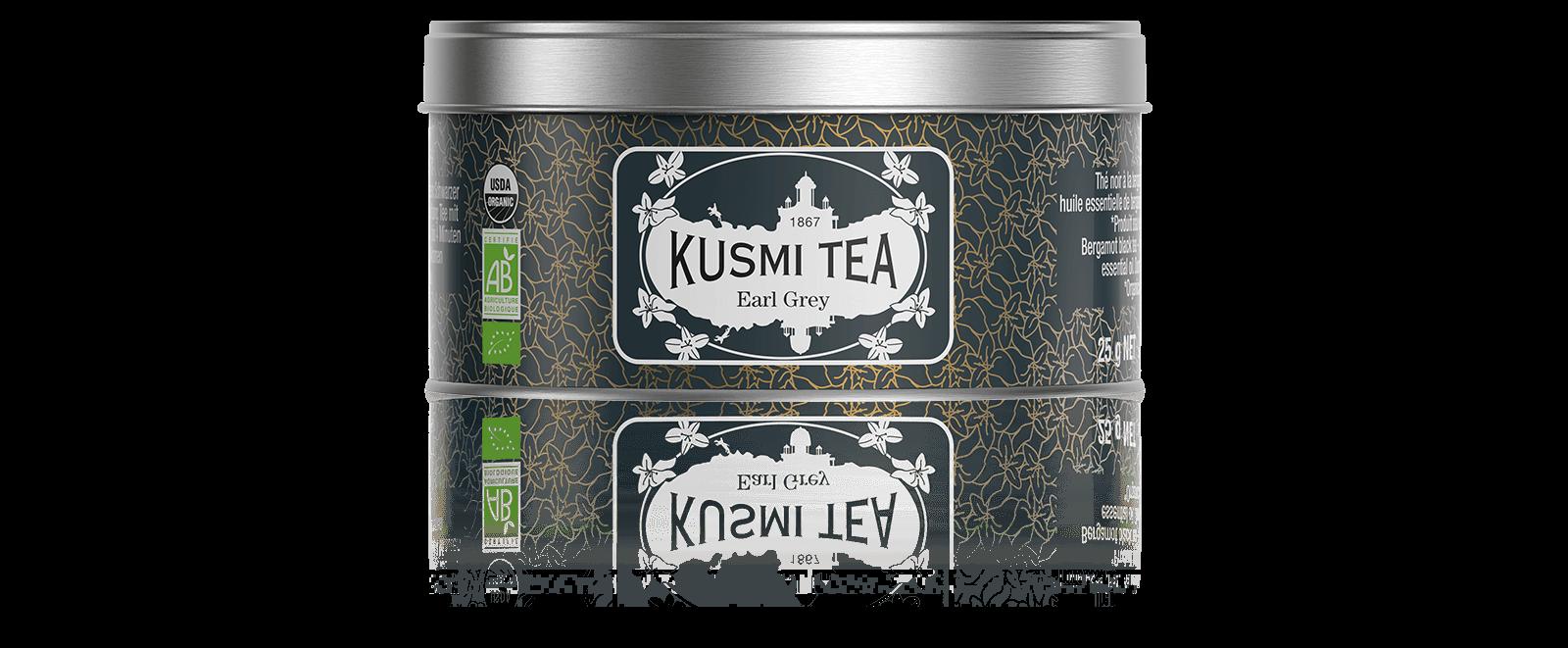 Earl Grey bio - Thé noir à la bergamote - Boite à thé en vrac - Kusmi Tea
