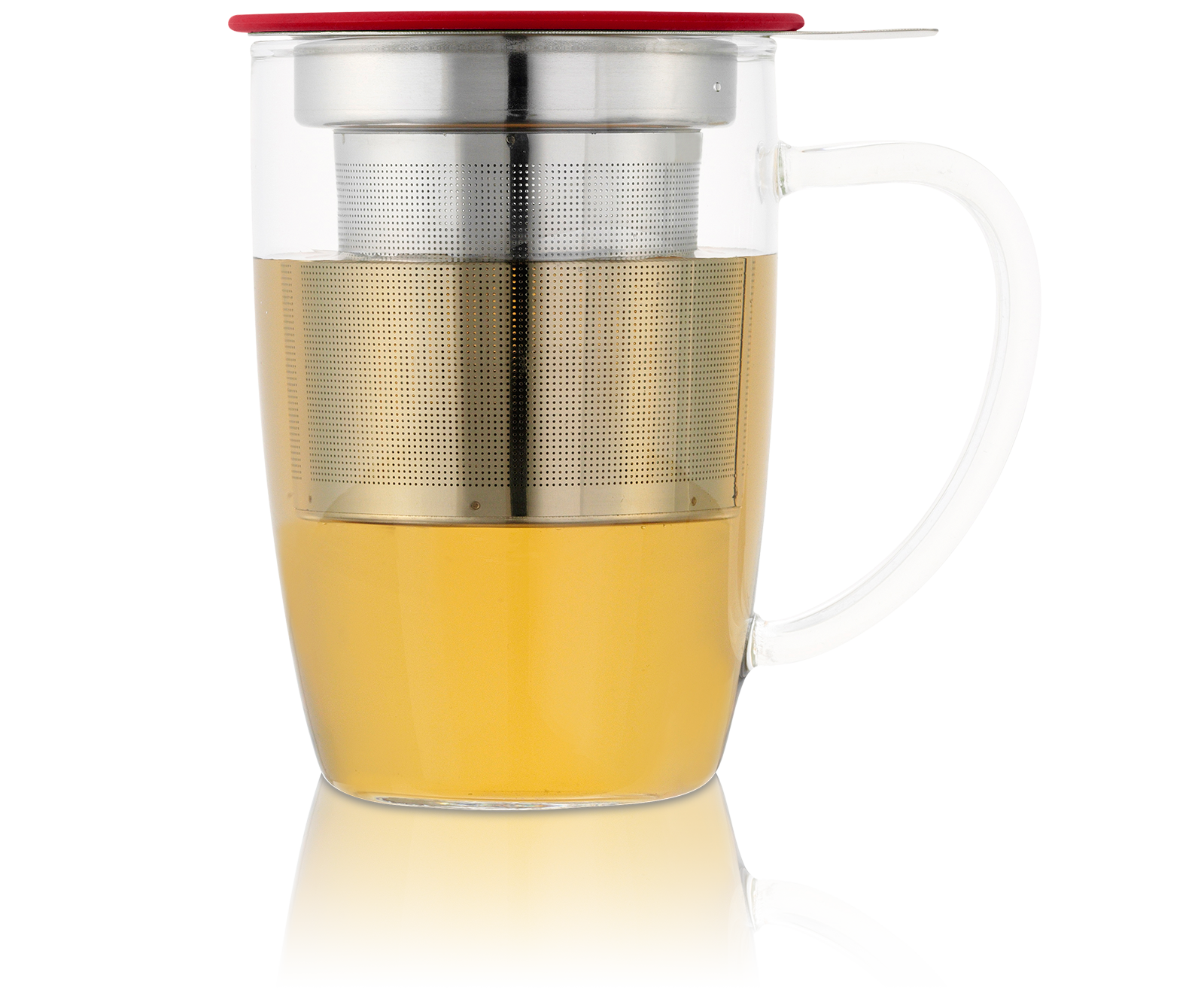 Tisanière NewLeaf 45Cl en verre avec filtre et couvercle
