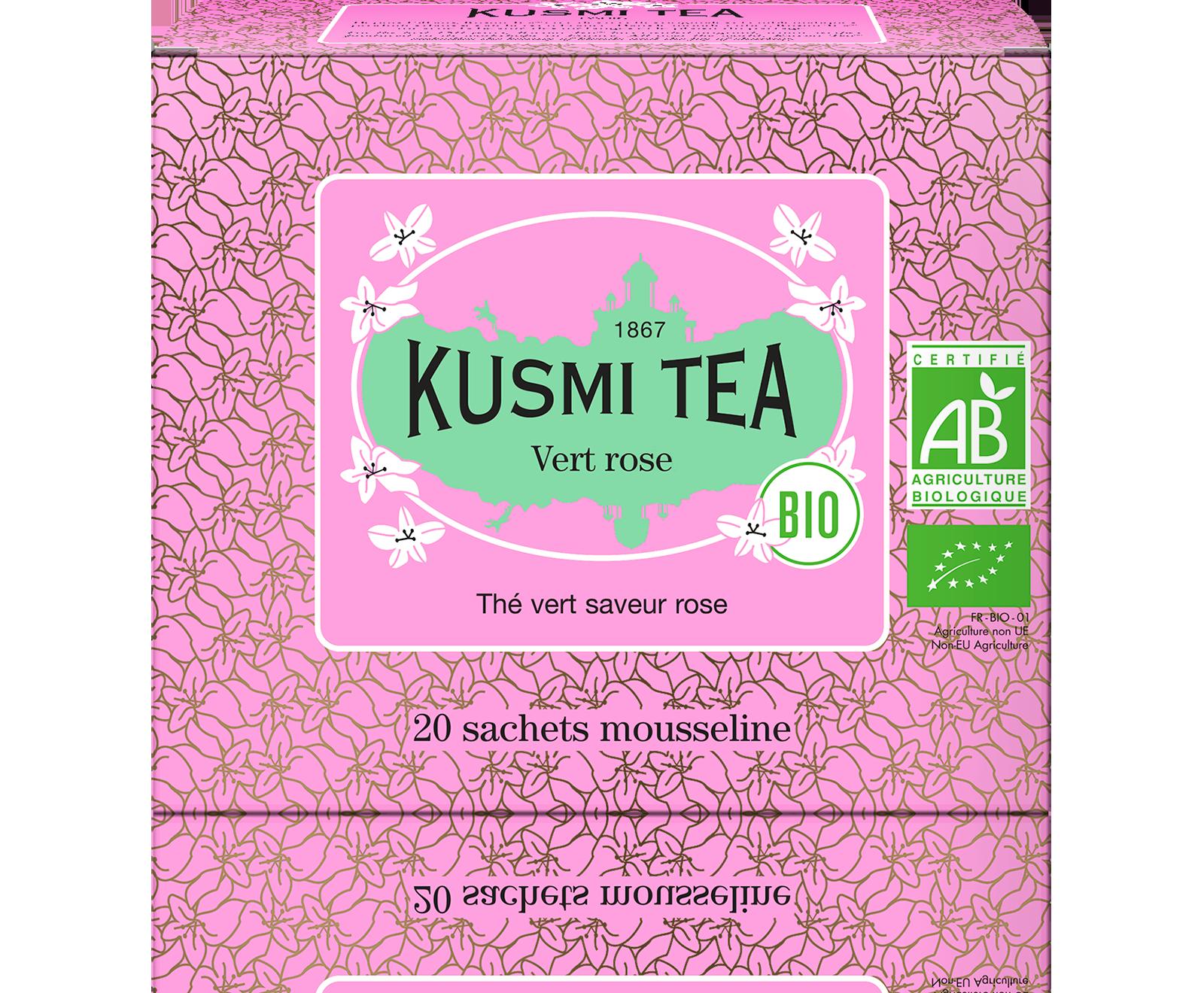 Thé vert Sachet - Vert rose Bio - Kusmi Tea