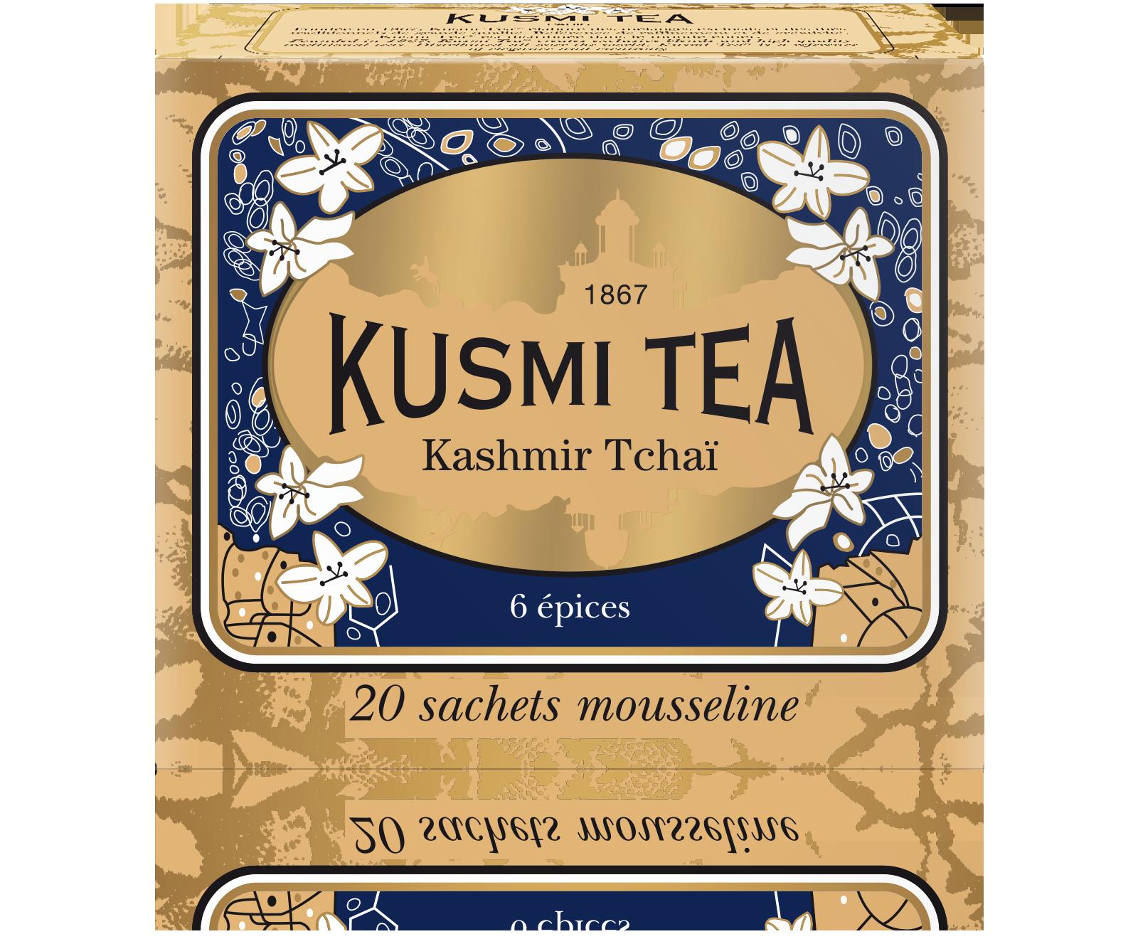 Kashmir Tchaï - Thé noir aux épices - Sachets de thé - Kusmi Tea