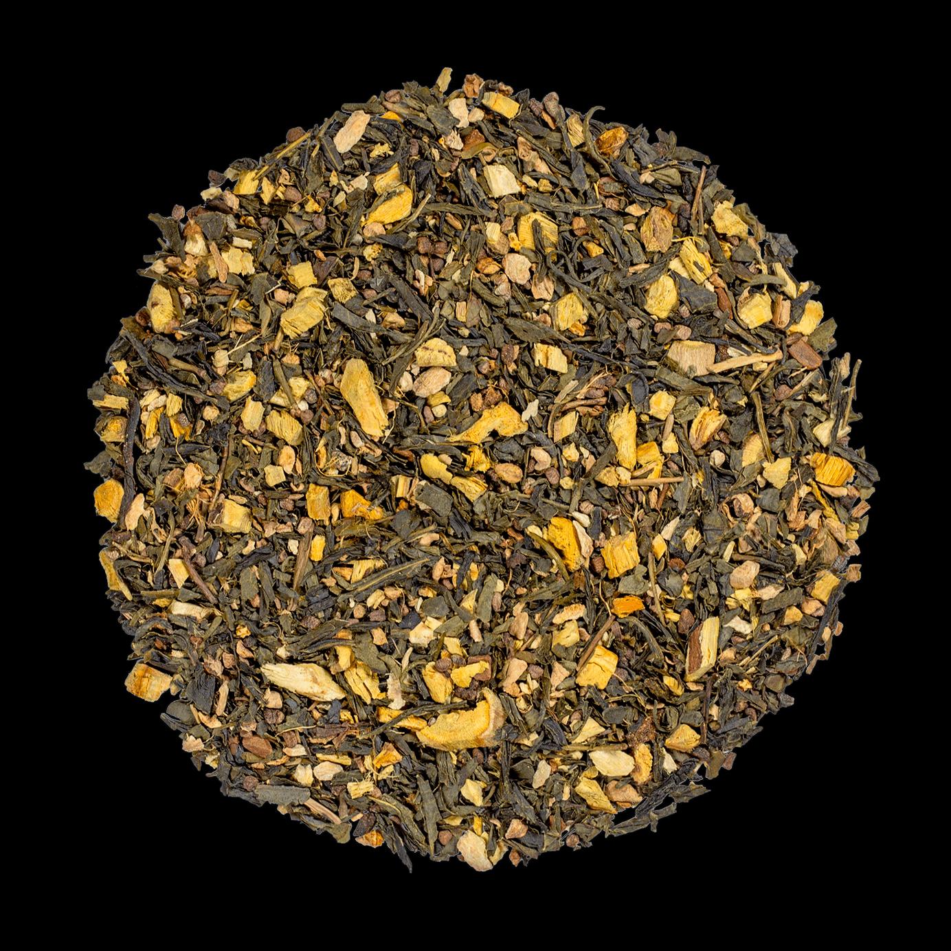 Label Imperial bio - Thé vert, épices, cannelle - Thé en vrac - Kusmi Tea