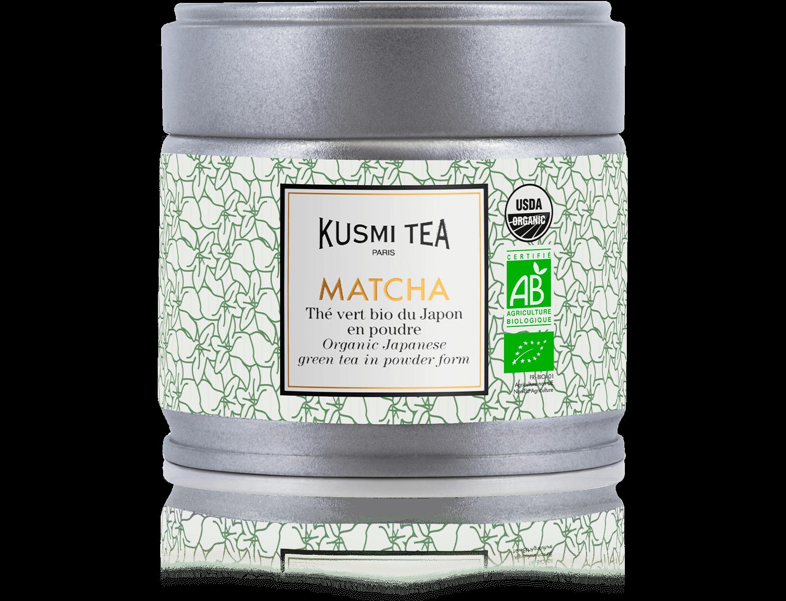 Matcha bio - Thé vert bio du Japon en poudre - Boite à thé en vrac - Kusmi Tea
