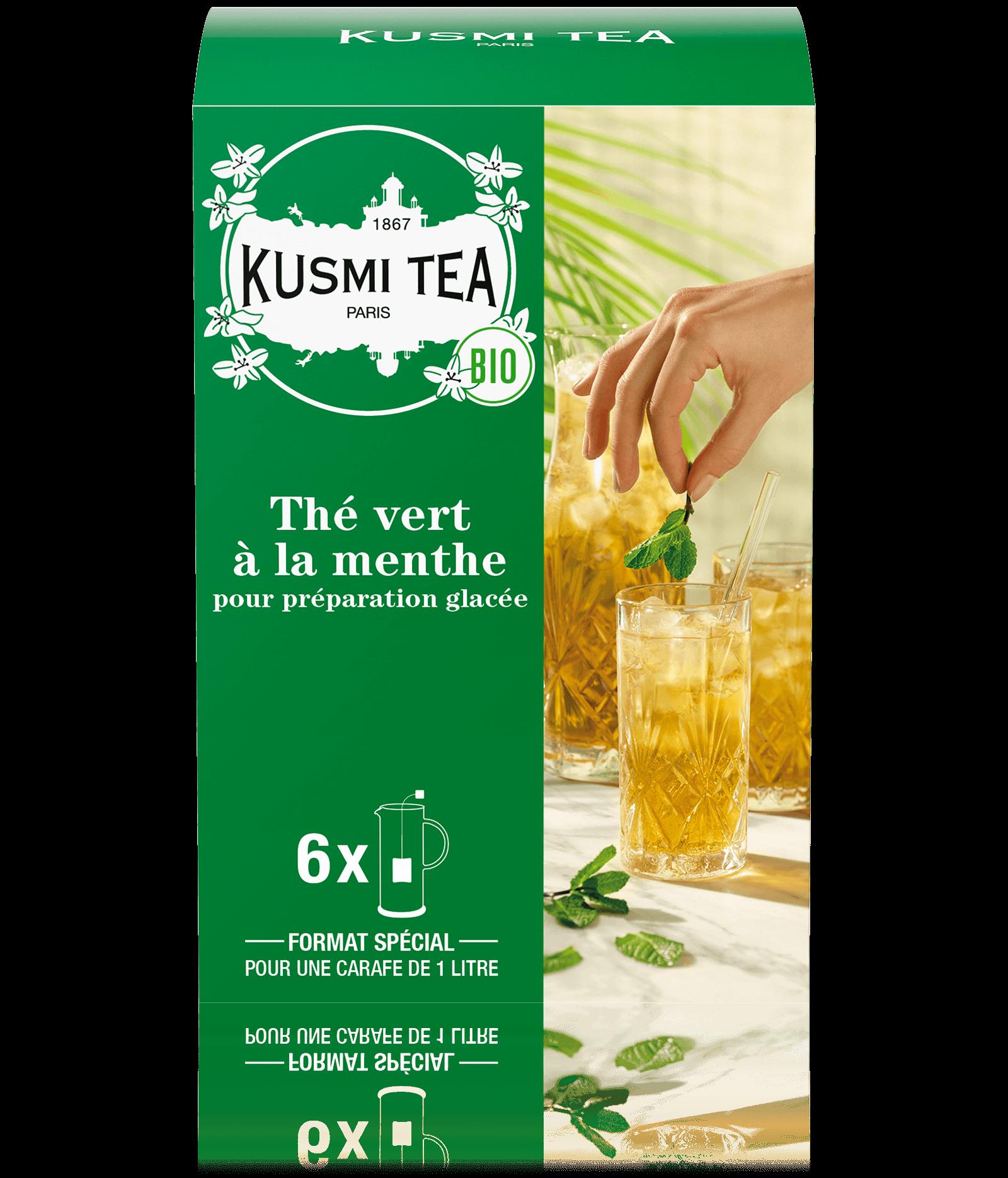 Thé vert à la menthe Thé glacé bio Kusmi Tea