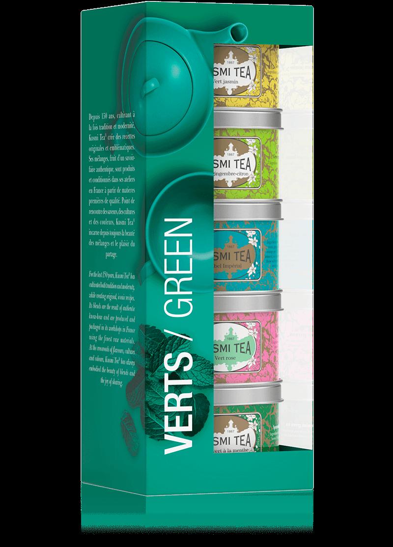 Coffret Les Verts - Thé vert en vrac - Kusmi Tea