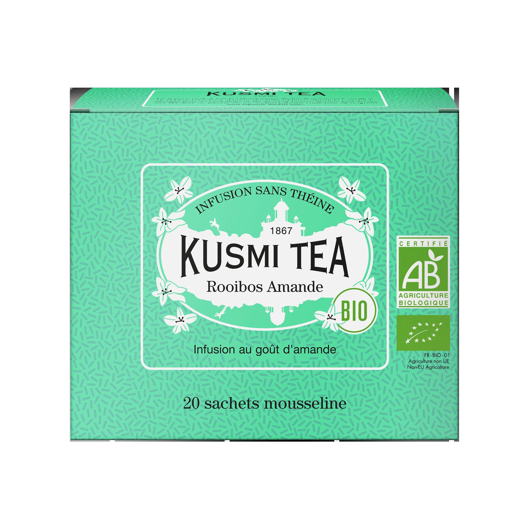 Infusion de rooibos bio - Rooibos Amande (Infusion bio) - Sachets - Kusmi Tea