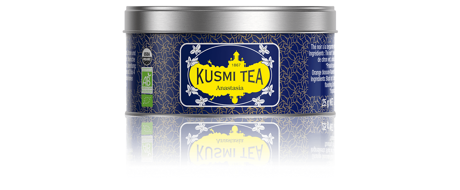 Anastasia bio - Thé noir earl grey, citron - Kusmi Tea