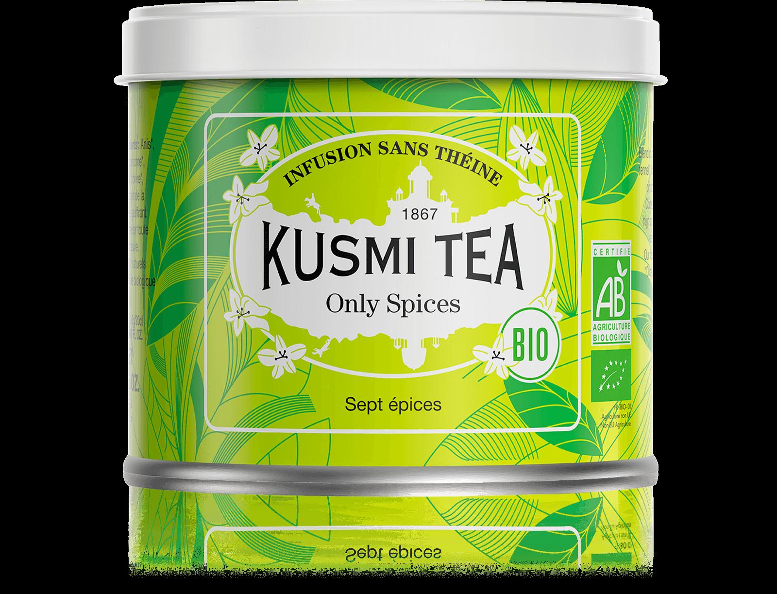 Only Spices Infusion bio - Fenouil, réglisse, anis - Boîte de thé en vrac - Kusmi Tea