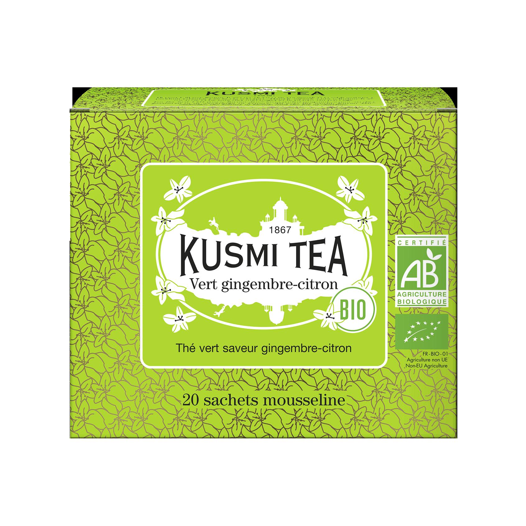 Thé vert Sachet - Vert gingembre-citron Bio - Kusmi Tea