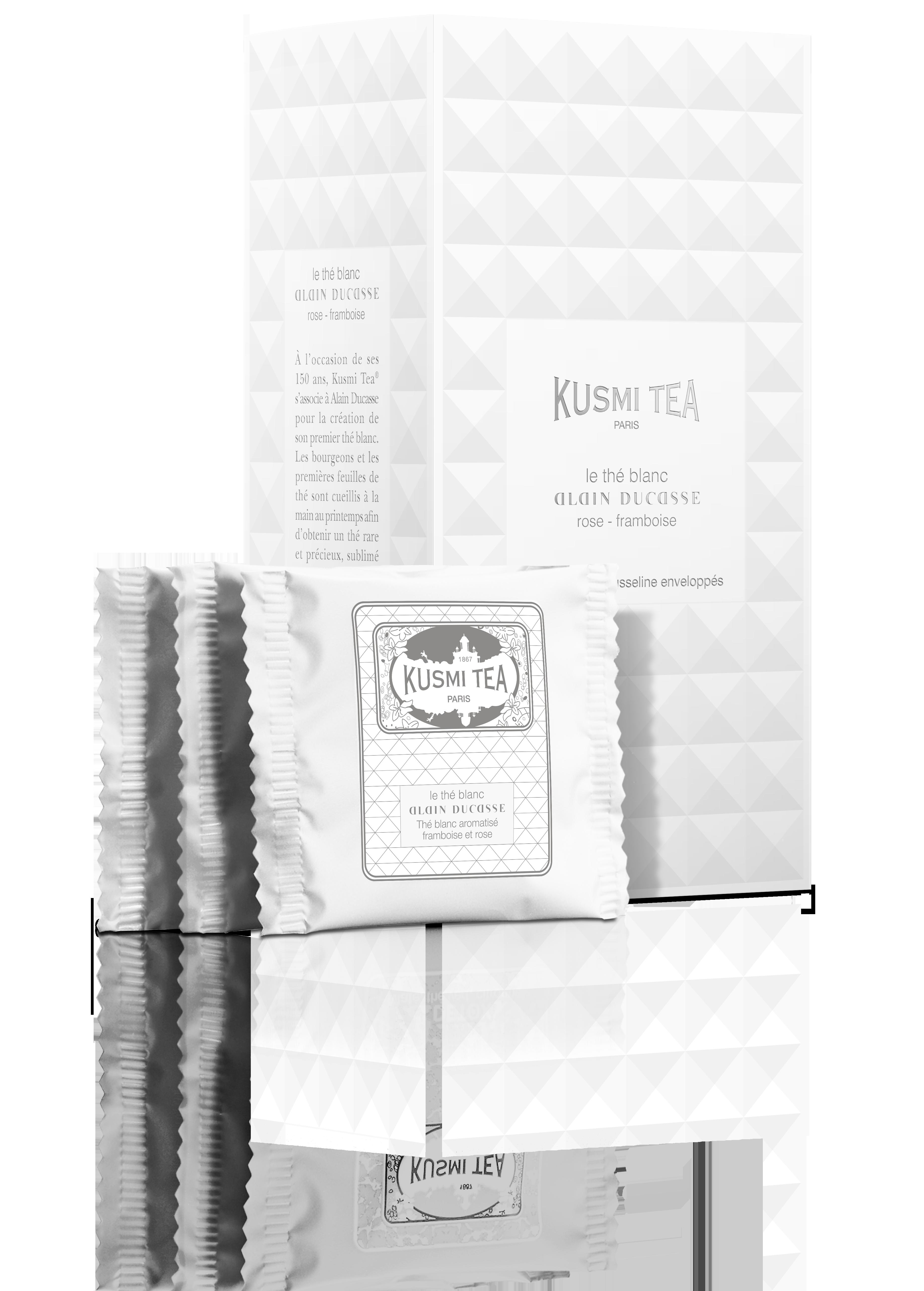 Thé Blanc Alain Ducasse - Boîte de 24 sachets enveloppés - KUSMI TEA