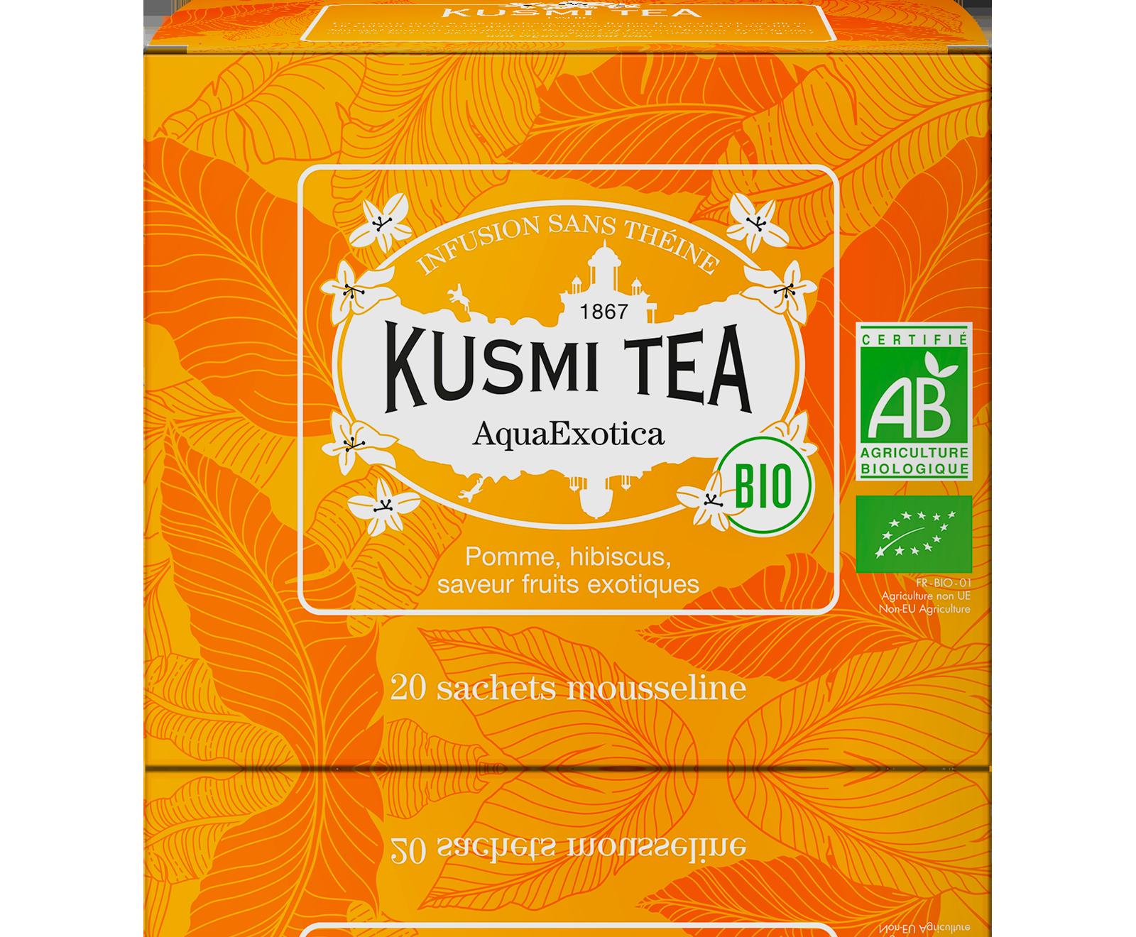 Infusion d'hibiscus bio - AquaExotica (Infusion de fruits bio) - Sachets - Kusmi Tea