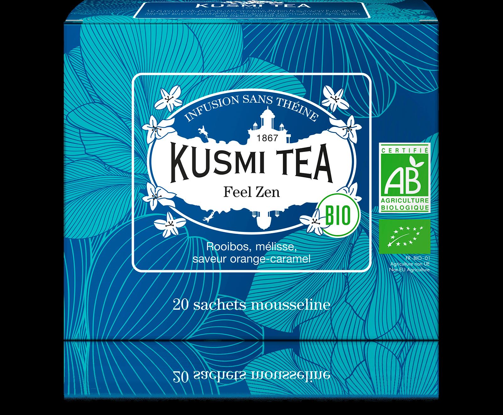 Feel Zen Infusion bio - Rooibos pomme, mélisse - Sachets de thé - Kusmi Tea