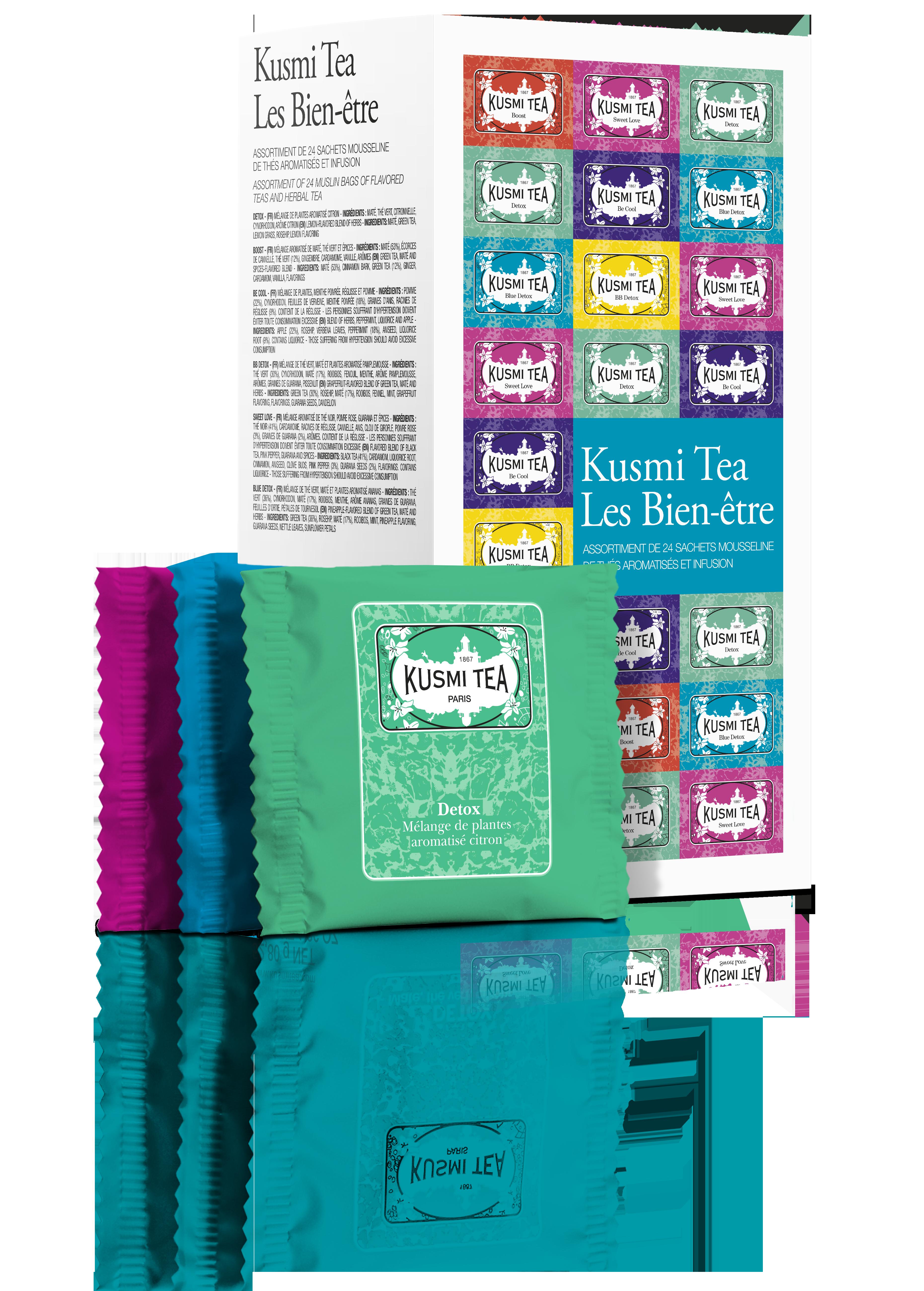 Coffret de thé en sachet Les Bien-être