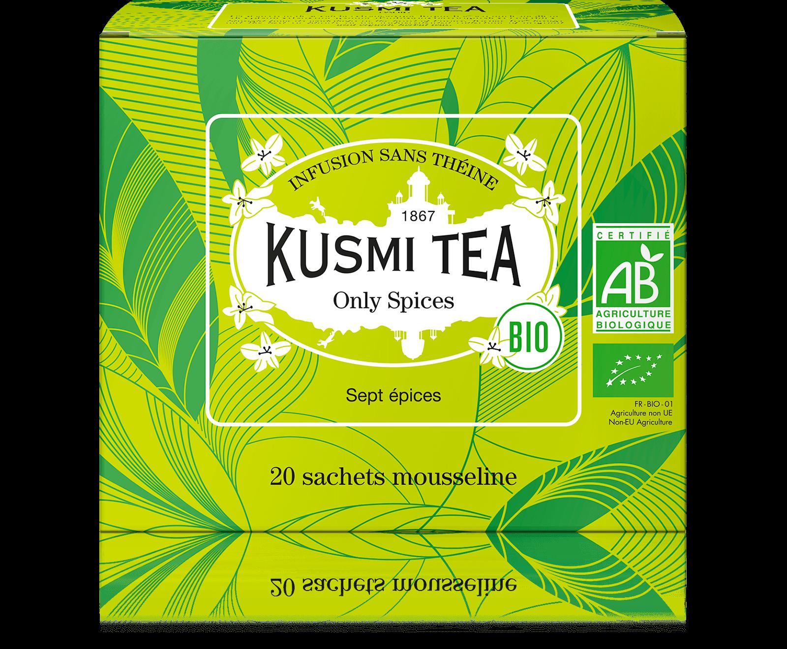 Only Spices Infusion bio - Fenouil, réglisse, anis - Sachets de thé - Kusmi Tea