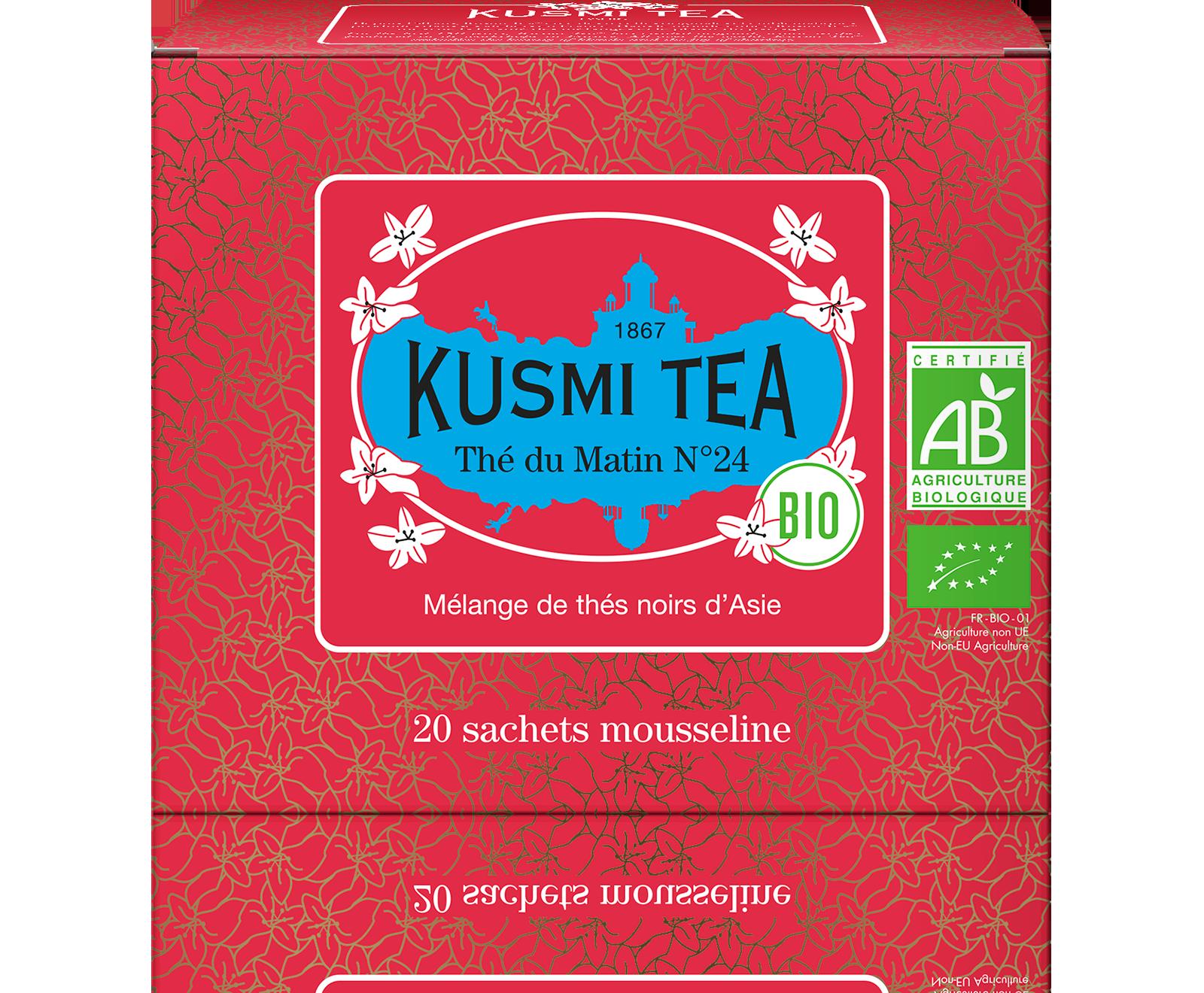 Thé noir sachet - Thé du matin N°24 Bio - Kusmi Tea