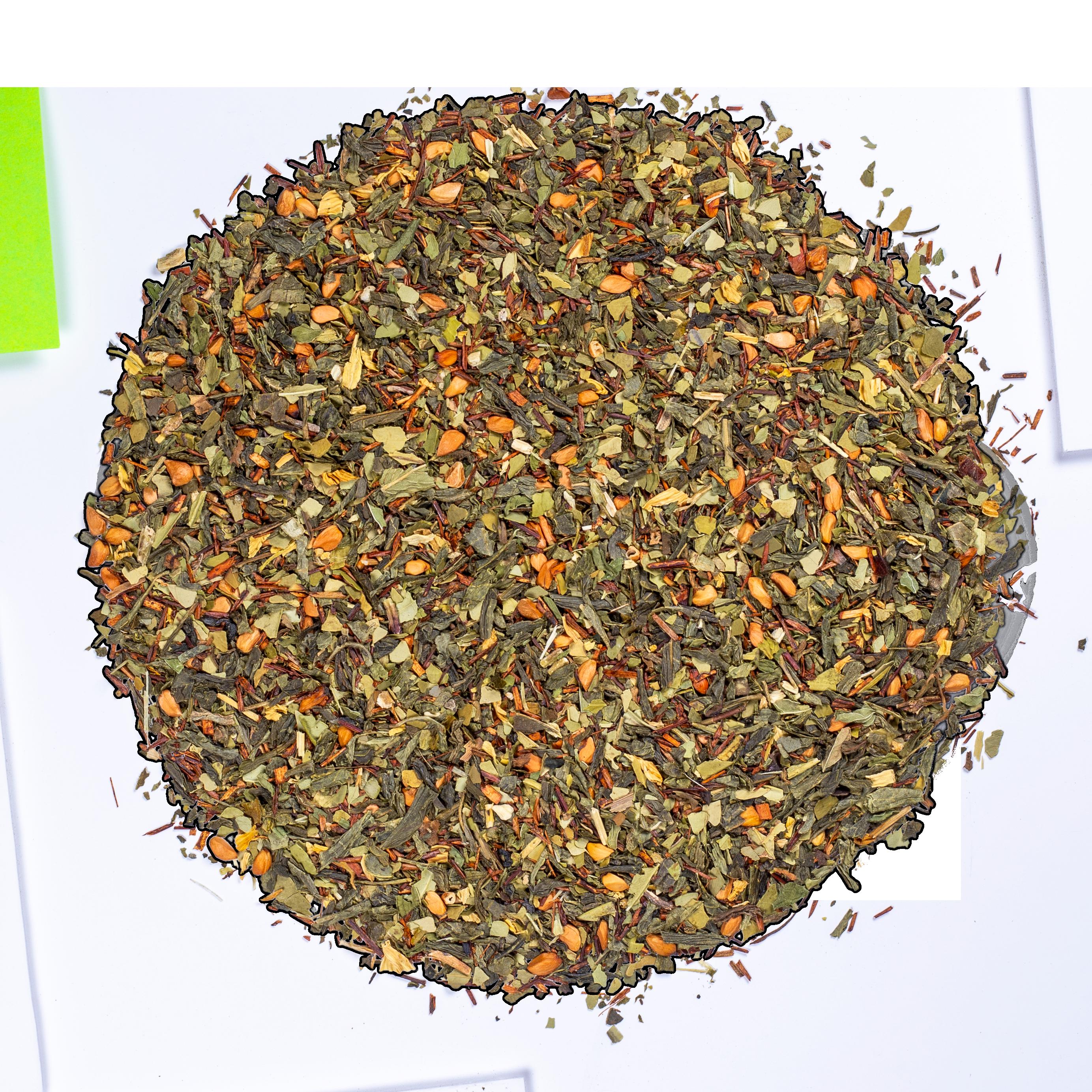 Thé vert, maté, rooibos - Blue Detox - Vrac - Kusmi Tea