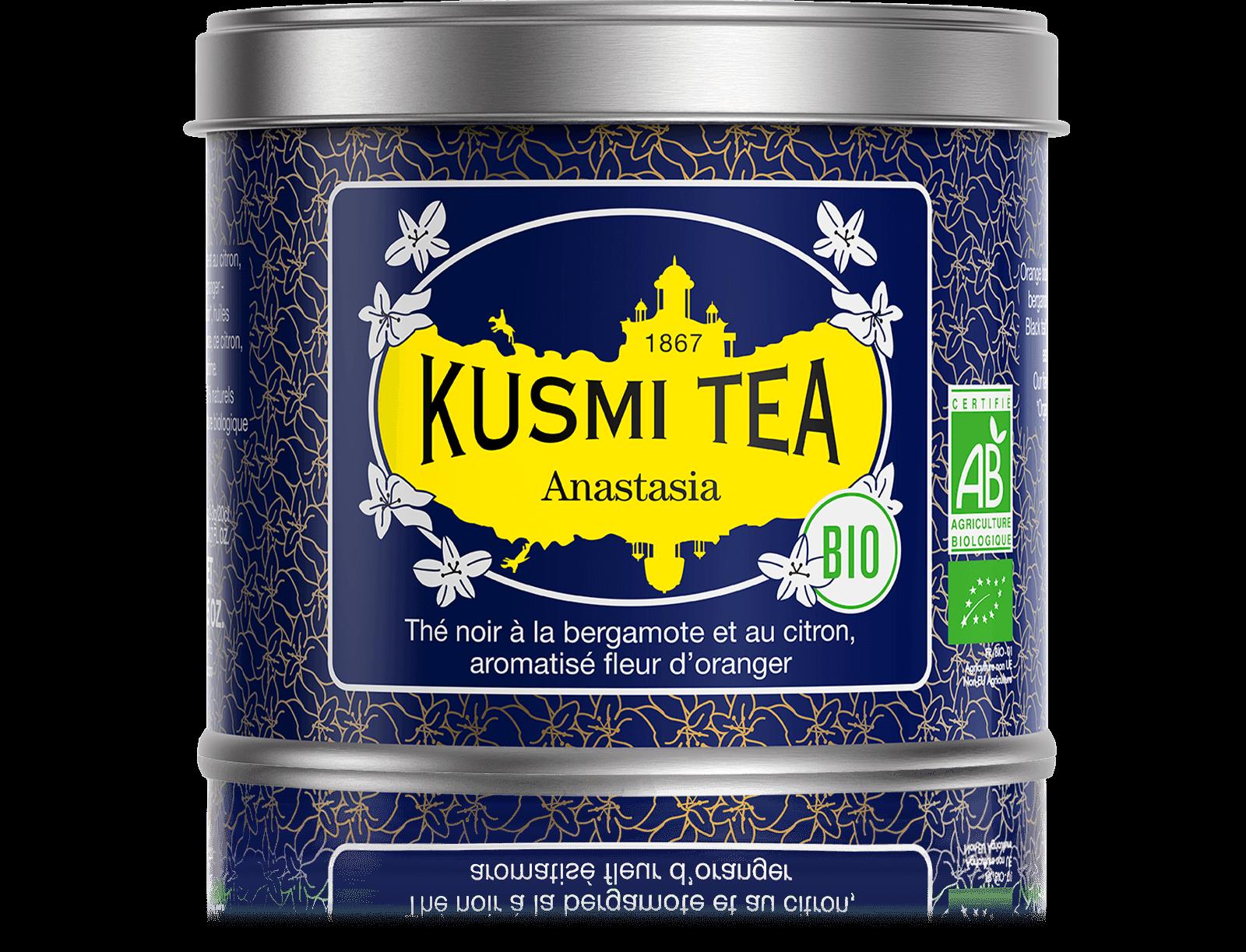 Anastasia bio - Thé noir earl grey, citron - Boîte de thé en vrac - Kusmi Tea