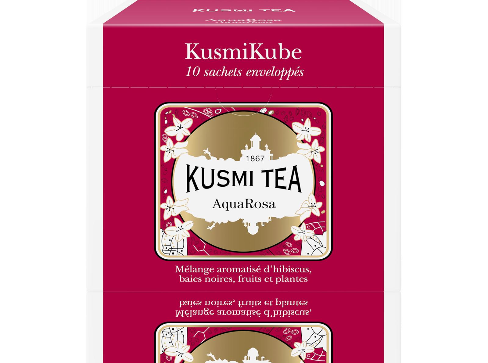 Infusion AquaRosa Recharge de 10 sachets enveloppés Kusmi Tea