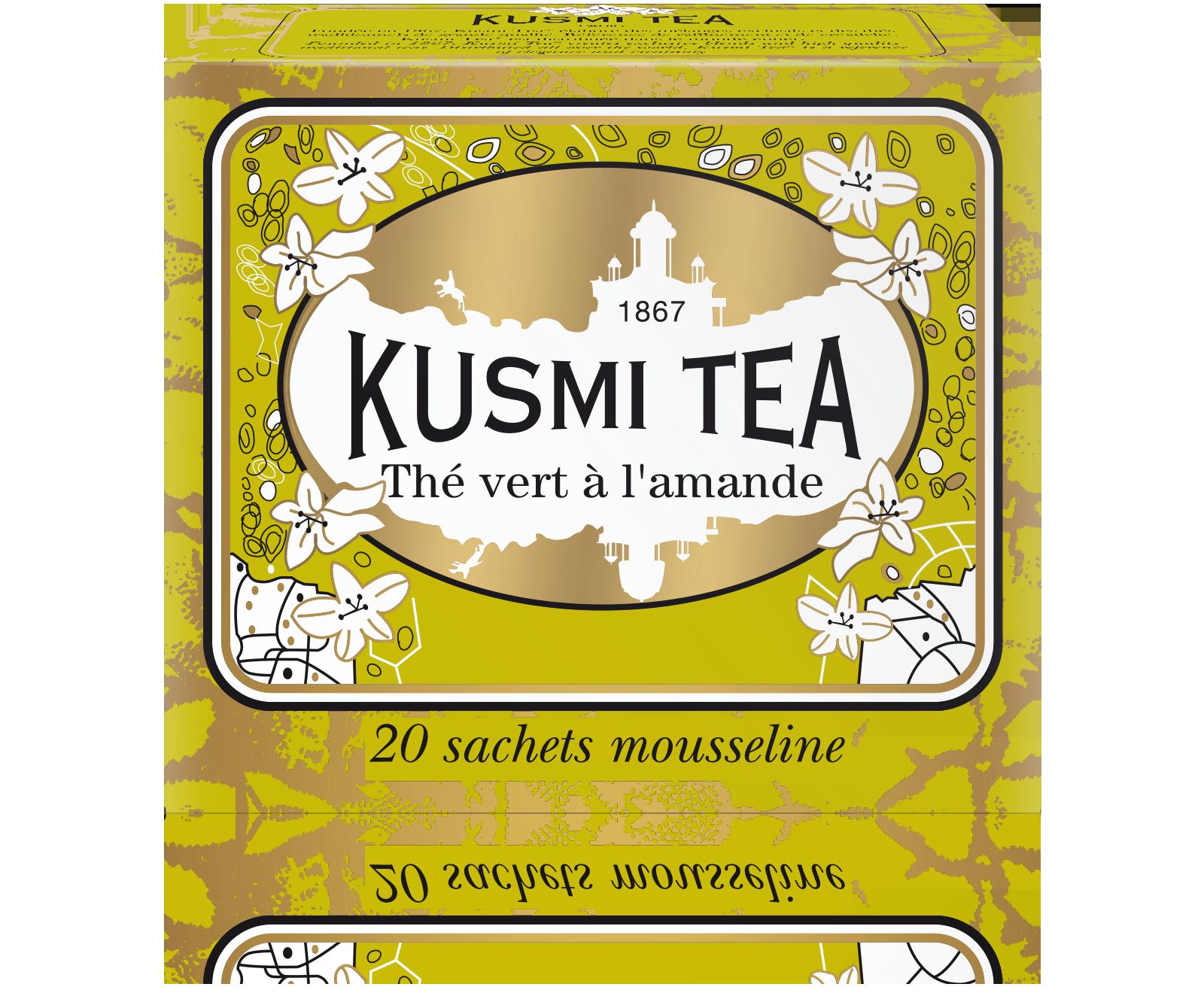 Thé vert Sachet - Thé vert à l'amande - Kusmi Tea