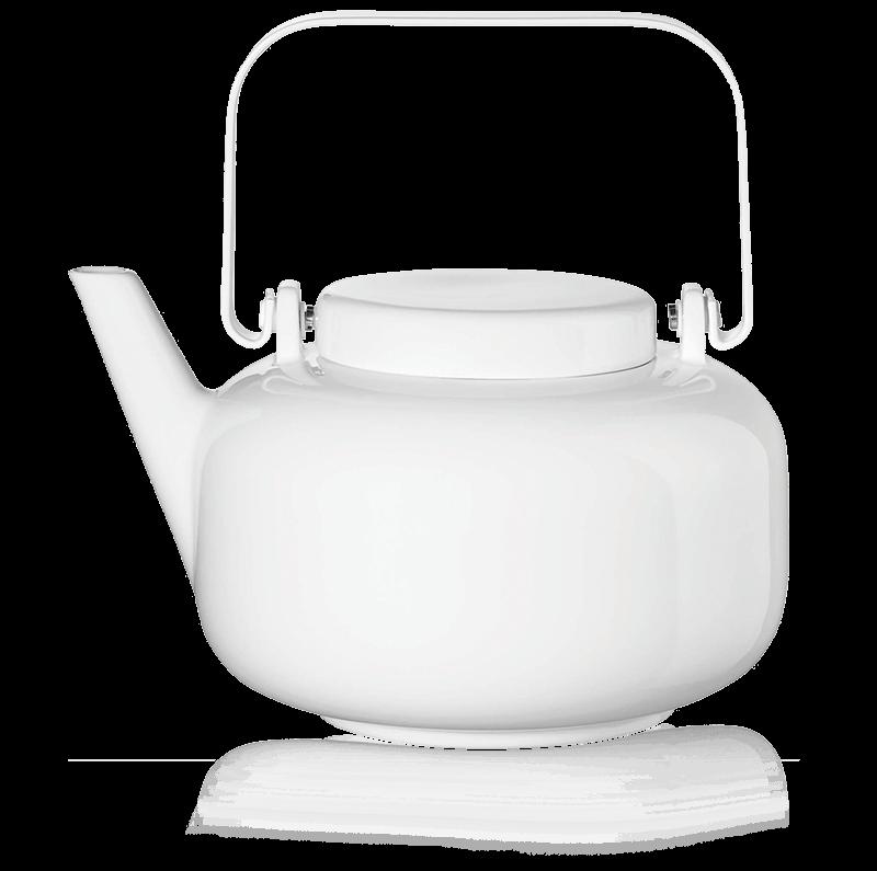 Théière en porcelaine 1L Sonoko - Théière Sonoko 1L en porcelaine blanche avec filtre - Kusmi Tea