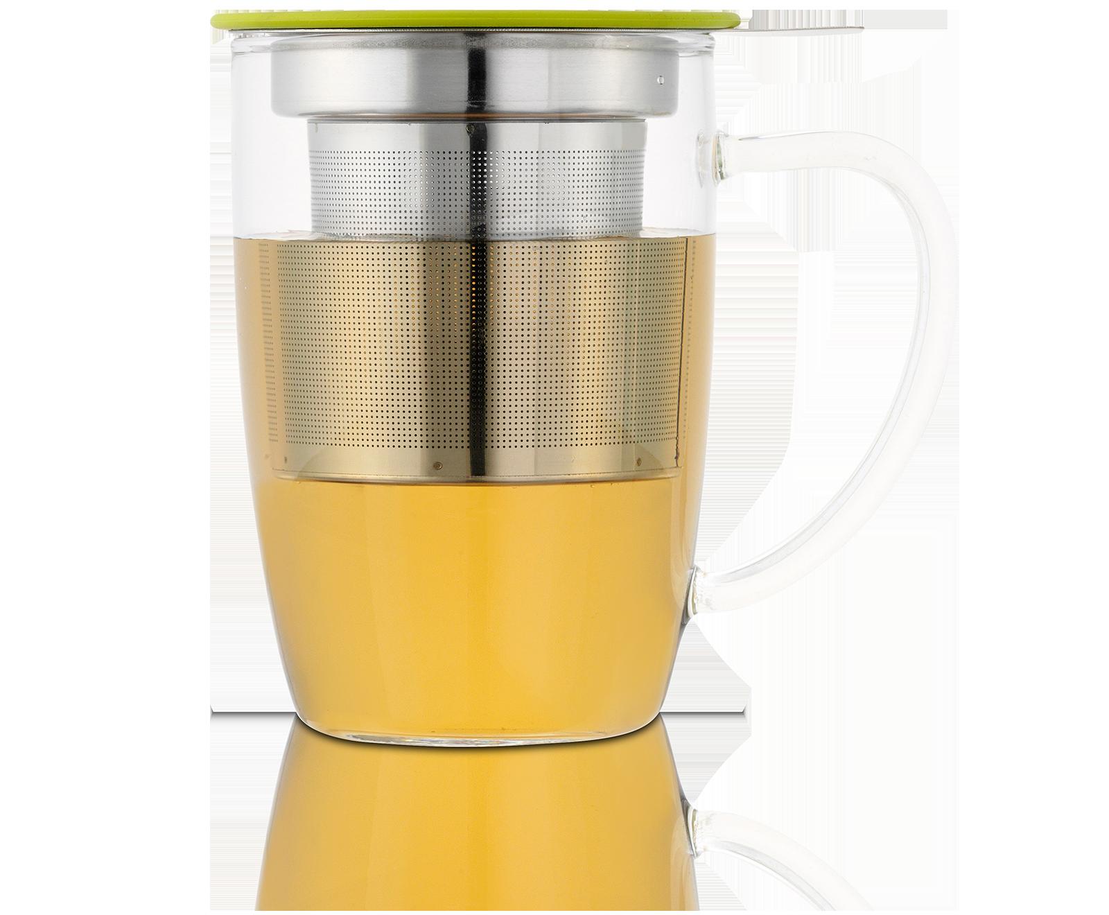 Tisanière NewLeaf 45Cl en verre avec filtre et couvercle - Kusmi Tea