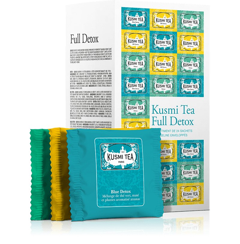 Coffret Full Detox - Thé vert et maté en sachet - Kusmi Tea