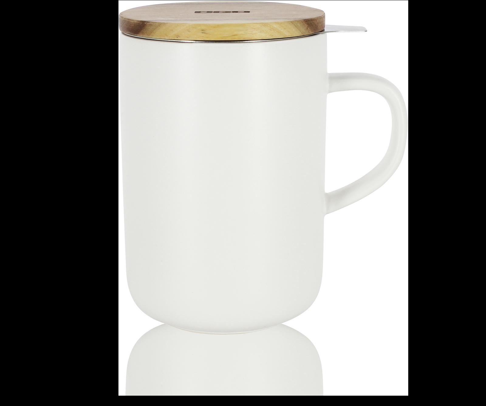 Tisanière en grès 48Cl, couvercle bois, filtre inox - Tasse à thé Kusmi Tea