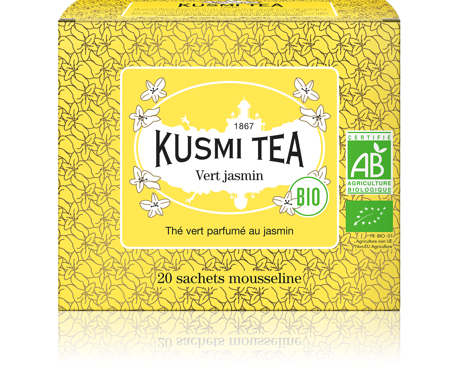 Thé vert Sachet - Vert Jasmin Bio - Kusmi Tea