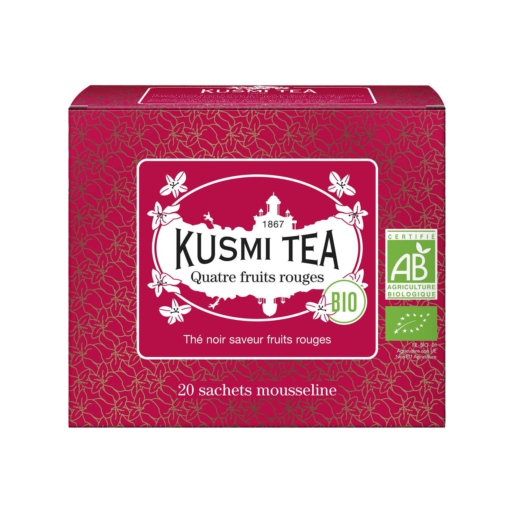 Thé noir - Quatre Fruits Rouges bio - Sachets - Kusmi Tea