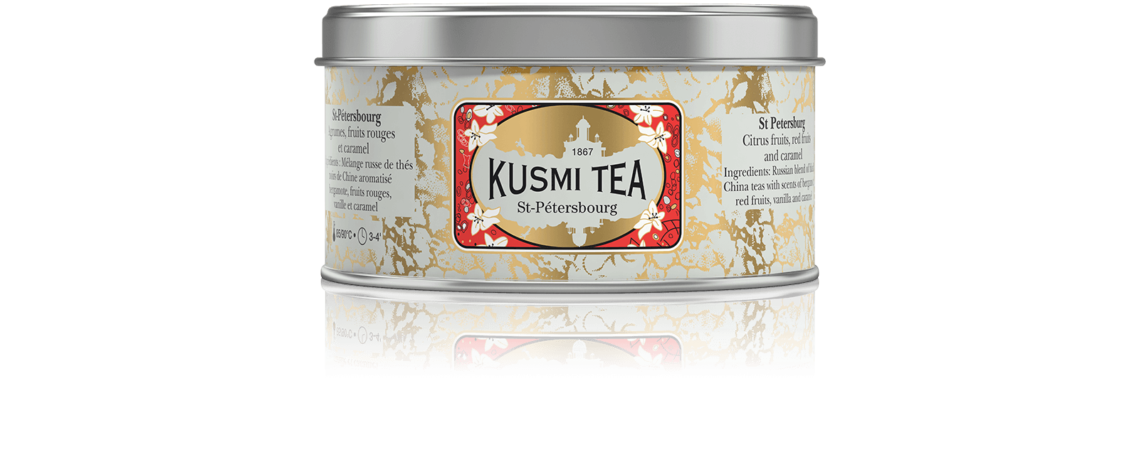 St-Pétersbourg - Thé noir à la bergamote aromatisé fruits rouges et caramel - Kusmi Tea