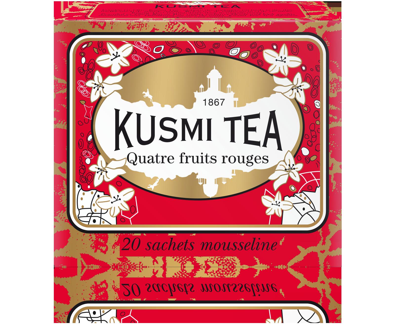 Thé noir sachet - Quatre fruits rouges - Kusmi Tea