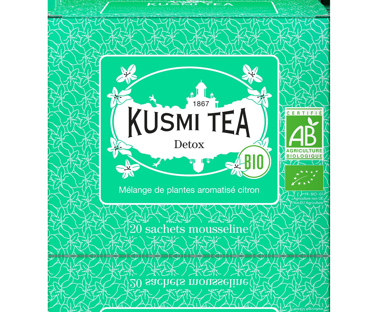 Thé vert, maté - Detox bio - Sachets de thé - Kusmi Tea