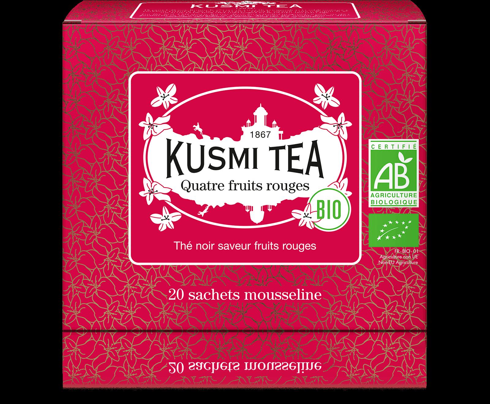 Thé noir - Quatre Fruits Rouges bio - Sachets - Kusmi Tea