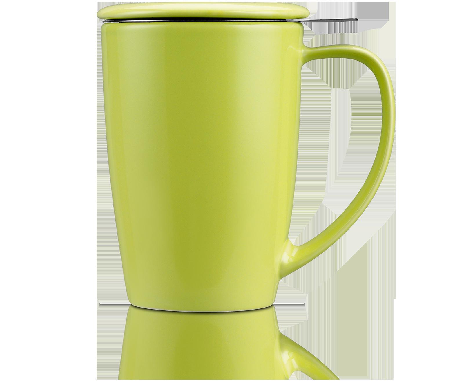 Mug Tisanière Curve en céramique avec filtre et couvercle - Kusmi Tea