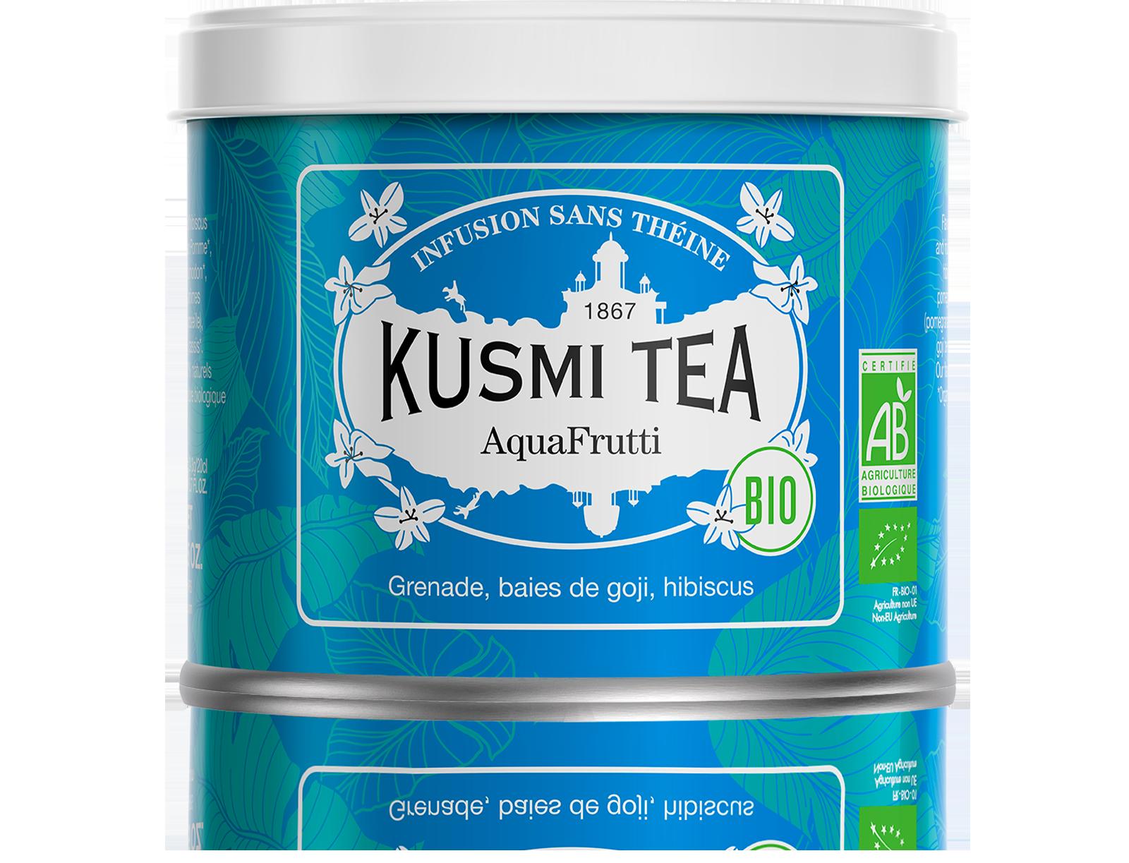 Infusion d'hibiscus bio - AquaFrutti (Infusion de fruits bio) - Vrac - Kusmi Tea