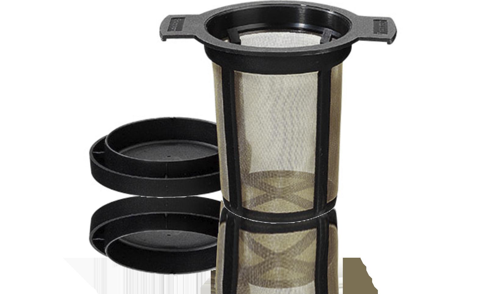 Filtre à thé FINUM permanent avec tamis métal inox grand modèle